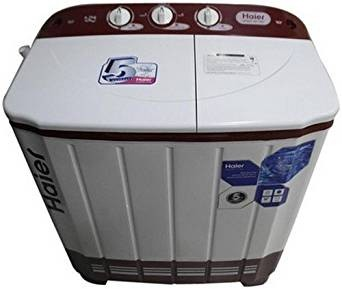 Haier 6.5 kg Semi-Automatic Top Loading Washing Machine (HTW65-113S-1, Ruby Red)