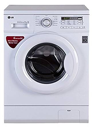 LG 7 kg Fully-Automatic Front Loading Washing Machine (FH0B8QDL22, Blue White)
