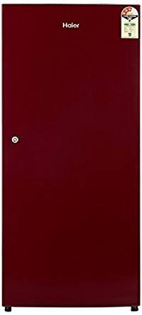 Haier 195 L 3 Star Direct-Cool Single Door Refrigerator (HRD-1953SR-R/HRD-1953SR-E, Red)