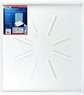Camco 20786 35OD x 31 Washing Machine Drain Pan for Front-Loading Machines w/PVC Fitting (White)
