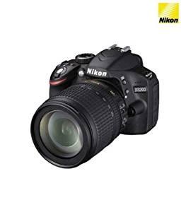 Nikon D3200 24.2MP Digital SLR Camera (Black) + 18-105mm VR II Kit Lens + 8GB Card + Camera Bag