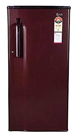 LG 190 L 5 Star Direct-Cool Single Door Refrigerator (GL-205KMG5, Burgundy Blaze)