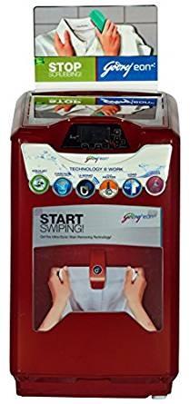 Godrej WT EON 651 PHU Fully-automatic Top-loading Washing Machine (6.5 Kg, Metallic Red)