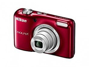 Nikon Coolpix L31 16.1MP Point And Shoot Digital Camera (Red) with 5x Optical Zoom, 8GB Memory card and case