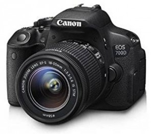 Canon EOS 700D 18MP Digital SLR Camera (Black) with 18-55mm IS II and 55-250mm IS II Lens,  Memory card and Carry Bag