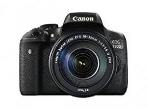 Canon EOS 750D 24.2MP Digital SLR Camera (Black) with Body only, Memory card, Camera Bag