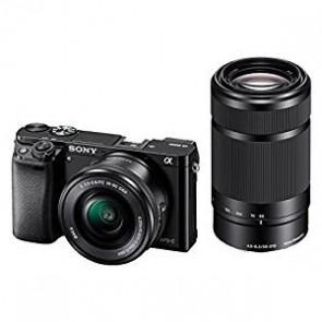 Sony Alpha A6000Y 24.3MP Digital SLR Camera (Black) + 16-50mm Lens + 55-210mm Lens