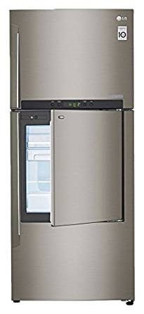 LG 426 L 2 Star Frost-Free Double Door Refrigerator (GC-D432HLAM,Platinum Silver 3)