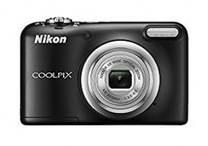 Nikon Coolpix A10 Point and Shoot Digital Camera (Black) with 16GB Memory Card and Camera Case With Rechargeable Batteries
