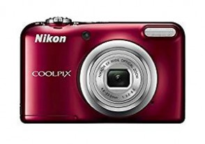 Nikon Coolpix A10 16.1MP Point and Shoot Camera with 5x Optical Zoom (Red) with Memory Card and Camera Case