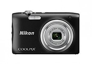 Nikon Coolpix A100 Point and Shoot Digital Camera (Black) with Card and Camera Case