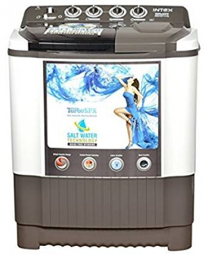 Intex 7.6 kg Semi-Automatic Top Loading Washing Machine (WMS76ST, White and Gray)
