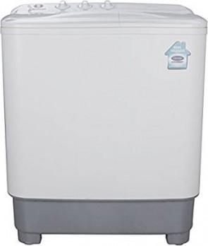 Midea 6.5 kg Semi-Automatic Top Loading Washing Machine (MWMSA065M02, White and Grey)