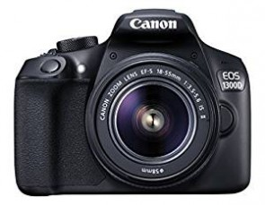 Canon EOS 1300D DZ 18 MP Digital SLR Camera (Black) with 18-55 and 55-250mm IS II Lens + 16GB Card and Carry Case + Free Motorola Pulse-S505 Wireless Bluetooth Headset with Mic
