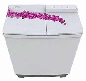 Mitashi MiSAWM85v15 Semi-automatic Top-loading Washing Machine (8.5 Kg, White and Grey) with 2 + 3 years extended warranty