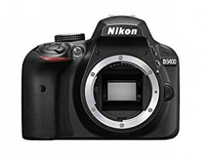 Nikon D3400 Digital Camera Body (Black) with card and DSLR Bag
