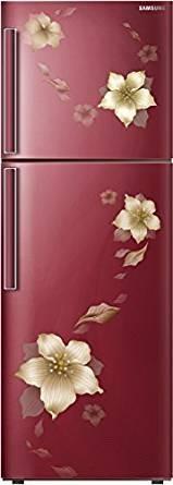 Samsung RT28K3343R2/HL 253 L 3 Star Frost Free Double Door Refrigerator, Star Flower Red