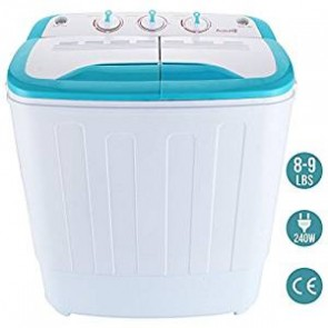 Auauna Portable Mini RV Dorm Compact 8-9lbs Washing Machine Washer Spin Dryer Laundry