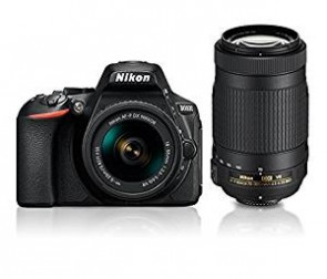 Nikon D5600 with AF-P 18-55mm + AF-P 70-300mm VR Kit With Bag and 16GB memory card free