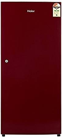 Haier 195 L 3 Star Direct-Cool Single Door Refrigerator (HRD-1953SR-R/HRD-1953SR-E, Red)