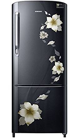 Samsung 230 L 4 Star Direct Cool Refrigerator (RR24M274YR2 , Star Flower Black)