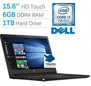 2017 New Edition Dell Inspiron 5000 15.6 HD (1366x768) Touchscreen Laptop PC, Intel Core i3-7100U Processor 2.4GHz, 6GB DDR4 RAM, 1TB HDD, HDMI, Bluetooth, DVD-RW, MaxxAudio Pro, Windows 10 Home