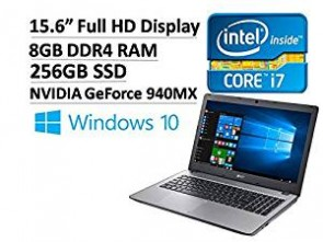 2017 Acer Aspire 15.6 Premium Business Full HD Laptop - Intel Dual-Core i7-6500U 2.5GHz, 8GB RAM, 256GB SSD, NVIDIA GeForce 940MX, Backlit Keyboard, 802.11ac, Bluetooth, Webcam, HDMI, USB3.0 Win 10