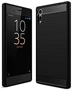 Sony Xperia XZ Back Cover, Original Rugged Armor ShockProof TPU Case for Sony XZs Dual Mobile Phone Premium Quality, Metallic Black by Golden Sand